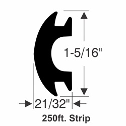 "1-5/16"" x 21/32"" Rub Rail Insert Kit - 250 ft."