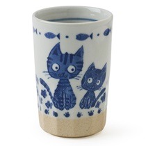 BLUE CATS CUP 9 OZ.