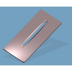 "Arc Slit Liner, .080"" Thick, T15, Molybdenum"