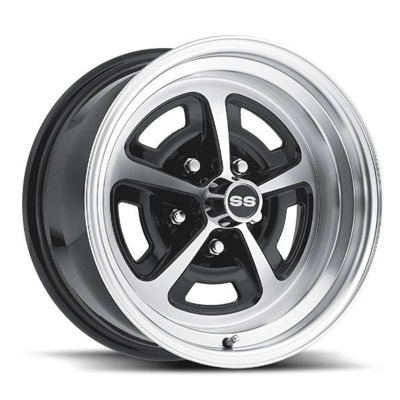 16 x 8 Magnum Wheel, 5 on 4.75 BP, 4.5 BS, Gloss/Black Machined