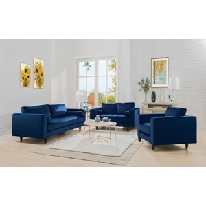 51076 NAVY LOVESEAT W/2 PILLOWS