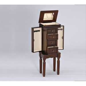 97016 WALNUT JEWELRY ARMOIRE