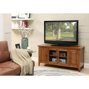 10342 OAK FINISH TV STAND