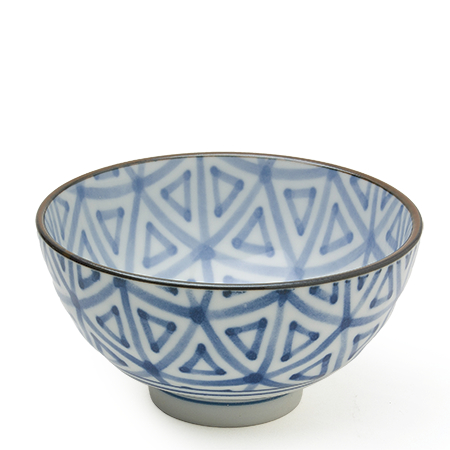 "MONYOU 4.25"" SANKAKU  RICE BOWL"