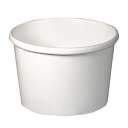 8 OZ WHITE PAPER HOT FOOD CONTAINER, 500/CS H4085       USES LID 0064123558