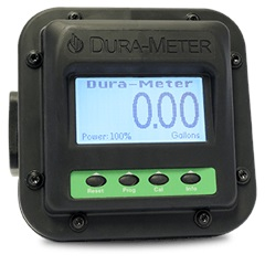 Front view Dura-Meter™ Flow Meter with Viton Seal