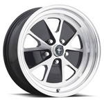 17x8 Styled Alloy Wheel, 5 on 4.5 BP, 4.75 BS, Gloss Black / Machined