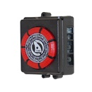 TIME CLOCK: 110V, 20AMP, 60HZ, 7 DAY, 4 LUG, RED
