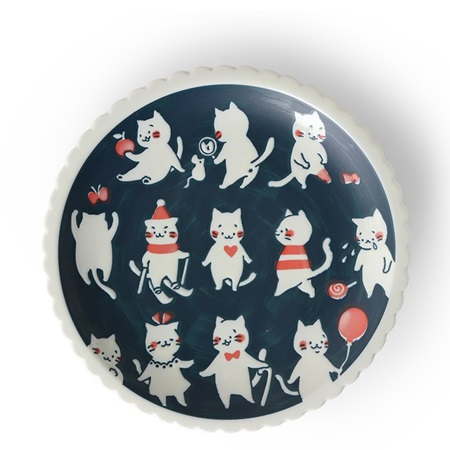"Cat Life 9.5"" Plate"