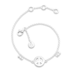 Daisy London Good Karma Bracelet, Peace Sign