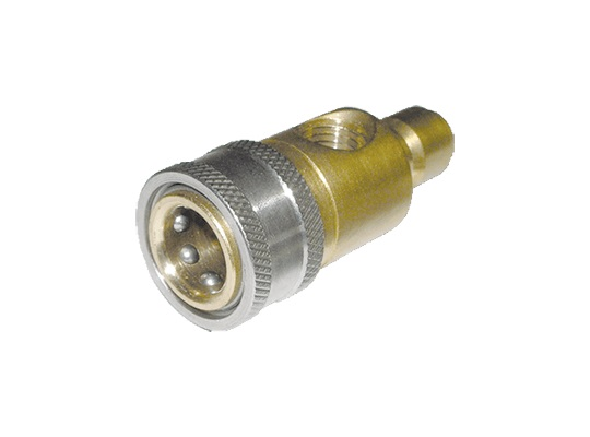 MTM Hydro Brass Top Mount Pressure Gauge Fitting with Port
