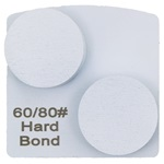 Double Dot Hard Bond 60/80 Grinder Tooling for Husqvarna® Redi Lock®