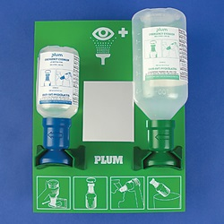 Dual Sterile pH Neutralizing and Sterile Saline Eye Wash Station  (Bel-Art Scienceware)