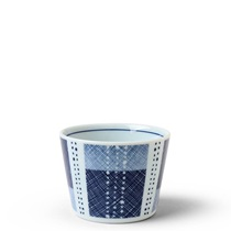 Blue Textile Stitching Soba Cup