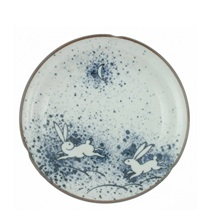 Plate Rabbit & Moon 8-3/4""