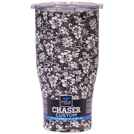 Hibiscus Hawaii Black/Clear 27oz Chaser