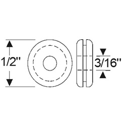 "Multi-Purpose Grommet 1/2"" x 1/16"""