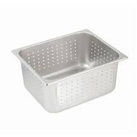 "Economy Perforated Anti-Jam 1/2 Size, 6"" D Steam Table Pans"