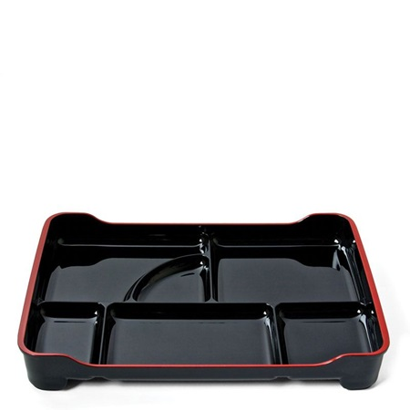 "Lacquered Lunch Tray 14"" X 9.5""- Black"