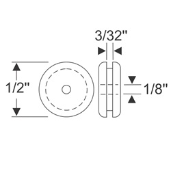 "Multi-Purpose Grommet 1/2"" x 3/32"""