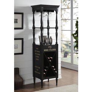 97464 GRAIN BLACK WINE CABINET