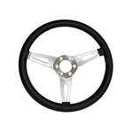 "Corso Feroce 15"" Black Leather Steering Wheel 6 Hole"