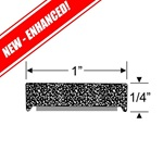 "1/4"" x 1"" Rectangular Sponge Rubber w/Peel-N-Stick"