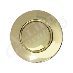 AIR BUTTON TRIM: #15 CLASSIC TOUCH, POLISHED BRASS