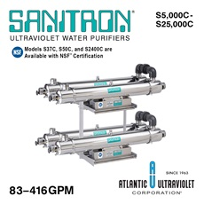 SANITRON® UV Water Purifiers 83–416 GPM (Multi-Chamber)
