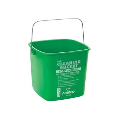 Winco PPL-6G Cleaning Bucket 6 Qt.
