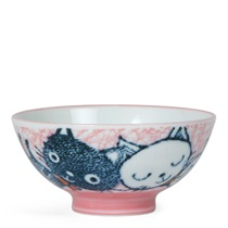 "Pink Cat 4.5"" Rice Bowl"