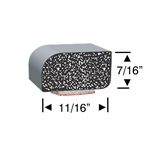 Peel-N-Stick Rectangular Rounded Edge 11/16 x 7/16 - 10ft & 30ft