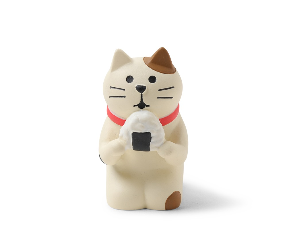 Figurine Cat with Omusubi