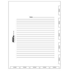 14500 Admission Index Tabs & Chart Divider Sheets