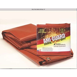AMI-TUF Welding Curtain SGL1700 - Red - 5x8 w/Grommets