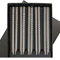 Stainless Steel Chopsticks Boxed Set