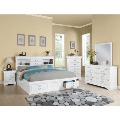 24487EK WH L.P III E. KING STORAGE BED