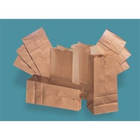 "Kraft #4 Size, 5"" x 3-1/3"" x 9-3/4"" Brown Paper Bag"