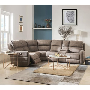 54590 OLWEN MOCHA SECTIONAL SOFA