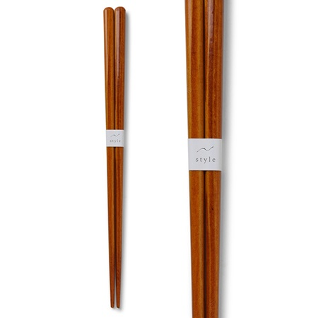 Chopsticks Wood Orange 1