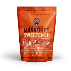 Lakanto ® Monkfruit Sweetener Stick Packs (30) - Golden