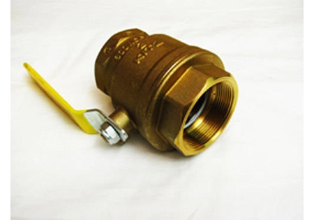 "2"" Brass Ball Valve with Locking Handle"