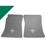 Custom Full-Size Carpet Floor Mats (Green)