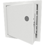 Insulated Fire-Rated Access Door with Flange, Mortise Lock Prep