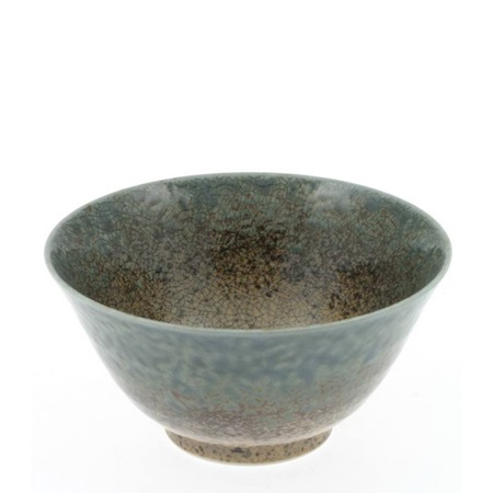 Blue Sand Crackle Bowl 5-1/4""