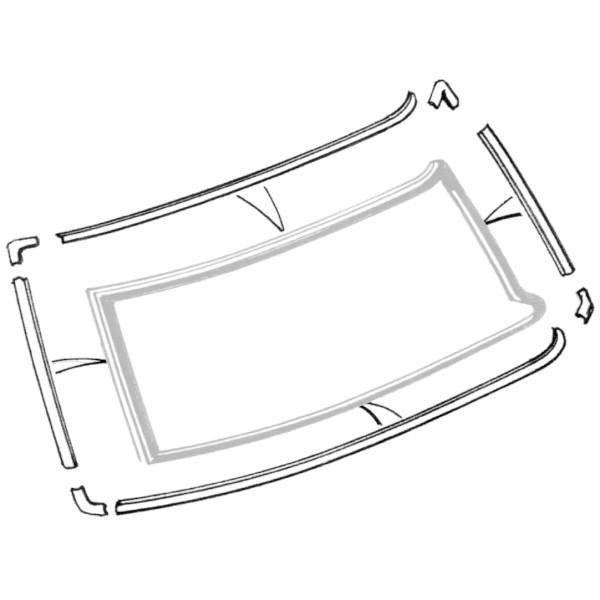 52 53 54 55 Ford windshield garnish molding seal