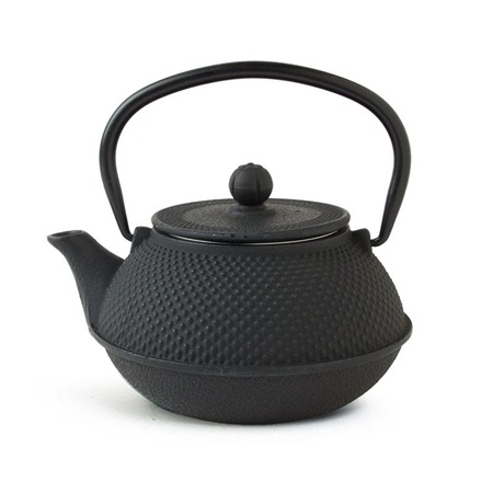 Black Hobnail Cast Iron Teapot - 30 Oz.