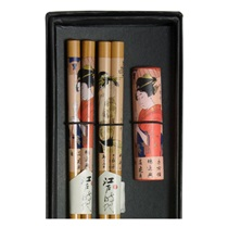 Geisha Chopsticks & Chopstick Rests Boxed Set