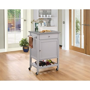 98302 KITCHEN CART W/STAINLESS TOP