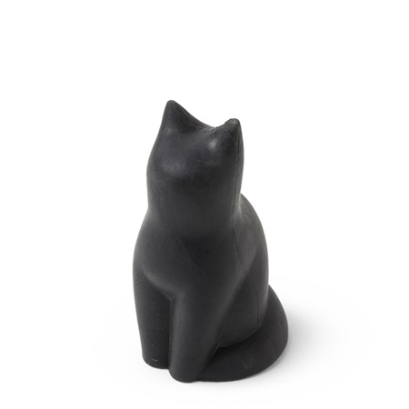 Eraser Black Cat Sitting Up